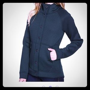North Face Thermal Snap Button Up Hoodie Jacket